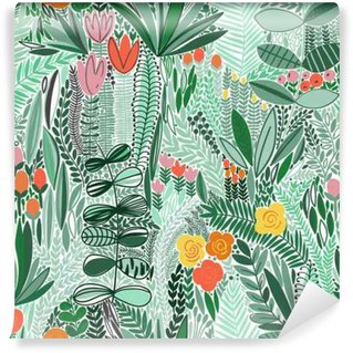 Tropical seamless floral pattern Washable Wall Mural