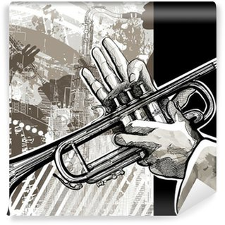 Washable Wall Mural Trumpet player