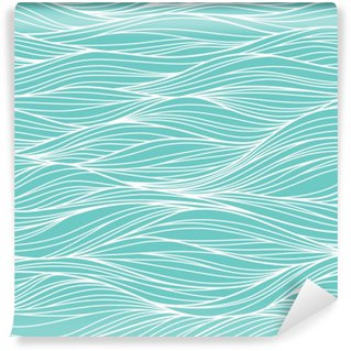 Washable Wall Mural Vector seamless abstract pattern, waves