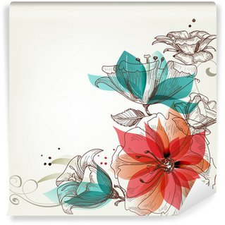 Washable Wall Mural Vintage flowers background