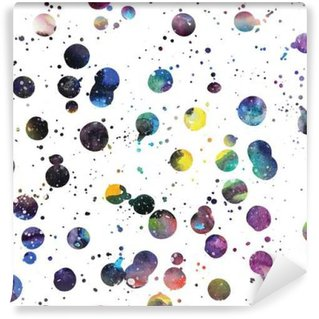 Watercolor galaxy background. Washable Wall Mural