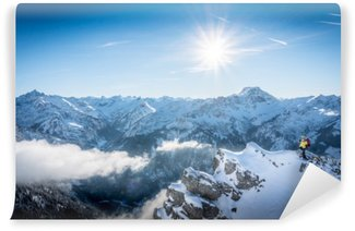Winter Sports in the German Alps Washable Wall Mural
