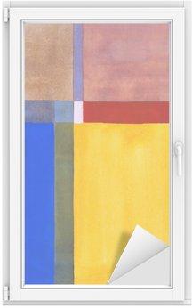 Window & Glass Sticker a minimalist abstract painting