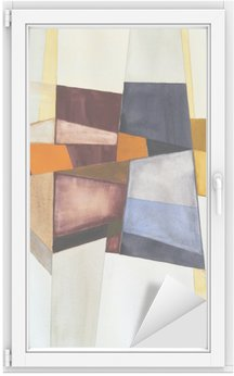 a modernist abstract watercolor Window & Glass Sticker