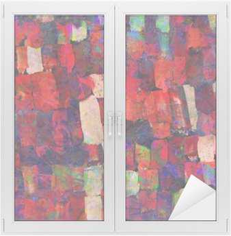 Abstract art painting Window & Glass Sticker