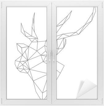 abstract deer Window & Glass Sticker