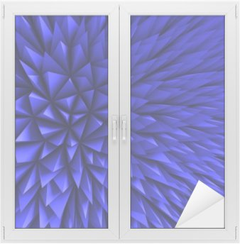 Abstract Poligon Chaotic Blue Background Window & Glass Sticker