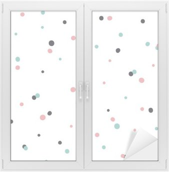 Abstract Seamless Pattern on White Background with Black and Gol Window & Glass Sticker
