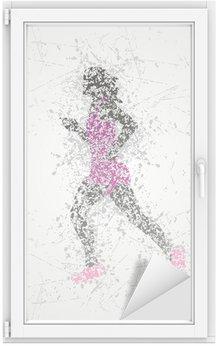 Window & Glass Sticker athlete design