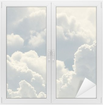 blue sky and beautiful clouds Window & Glass Sticker