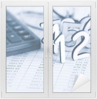Window & Glass Sticker Bookkeeping Concept