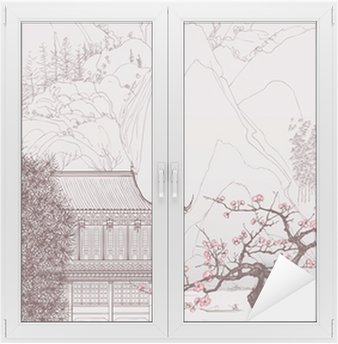 Chinese landscape Window & Glass Sticker