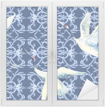 Chinese watercolor seamless pattern