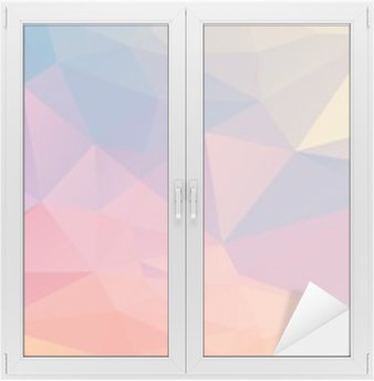 Colorful polygon Window & Glass Sticker