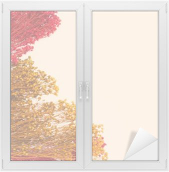 Window & Glass Sticker decorative small flowers with hand-painted. space for the designer, place for text