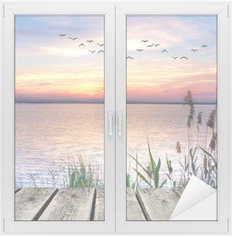 el lago de las nubes de colores Window & Glass Sticker
