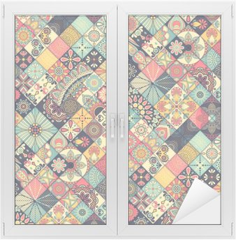 Window & Glass Sticker Ethnic floral seamless pattern