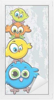 Window & Glass Sticker Family of birds