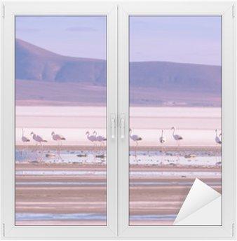 Flamingo Window & Glass Sticker