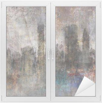 Fond ville grunge Window & Glass Sticker