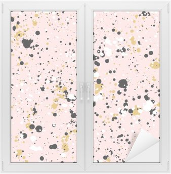 Hand drawn paint splashes textures, vector seamless pattern Window & Glass Sticker