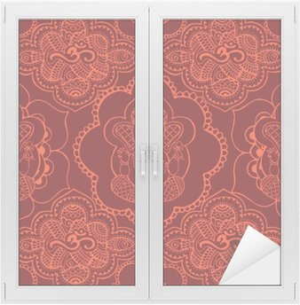 Window & Glass Sticker Indian seamless pattern with ornament