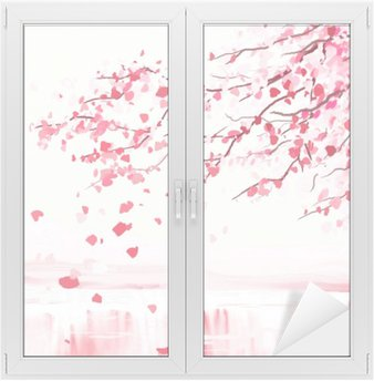 Window & Glass Sticker Japanese cherry tree