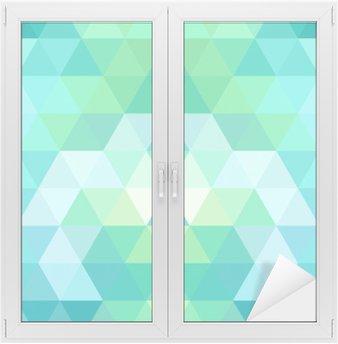 Window & Glass Sticker Mosaic triangle background. Geometric background