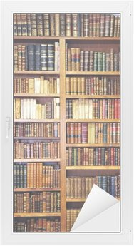 Window & Glass Sticker Old books, library