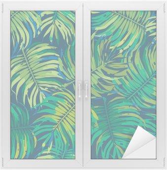 Palm Leaves Tropic Seamless Vector Pattern Window & Glass Sticker