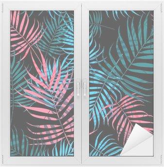 Window & Glass Sticker Palm tree foliage