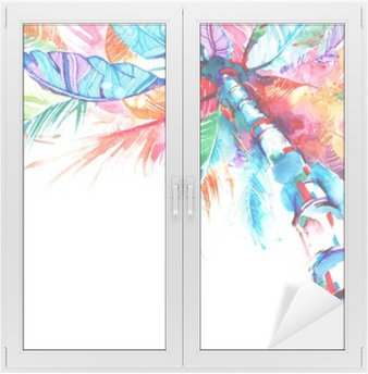 Window & Glass Sticker palm