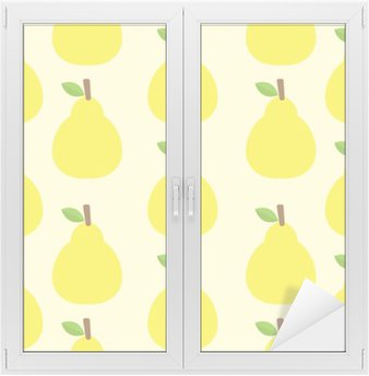 pattern vector background Cute fruit color Look delicious Round- Window & Glass Sticker