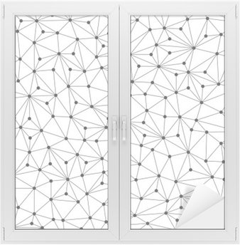 Window & Glass Sticker Polygonal background, seamless pattern, lines and circles