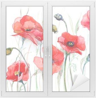 Window & Glass Sticker poppy