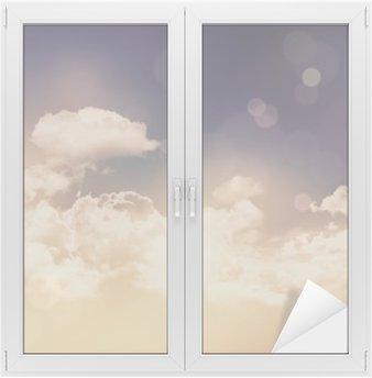 Retro clouds and sky background Window & Glass Sticker