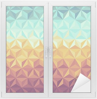 Retro hipsters geometric pattern. Window & Glass Sticker