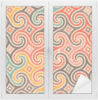 Retro pattern with swirls. Window & Glass Sticker