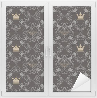 Window & Glass Sticker Royal Background, Seamless Pattern