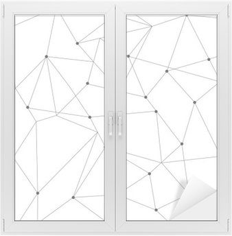 scandinavian geometric modern seamless pattern Window & Glass Sticker