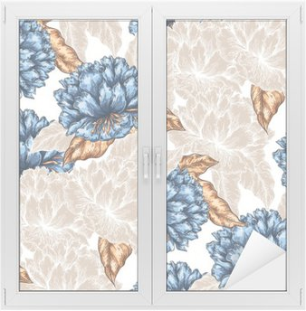 Window & Glass Sticker Seamless Graphic flower pattern