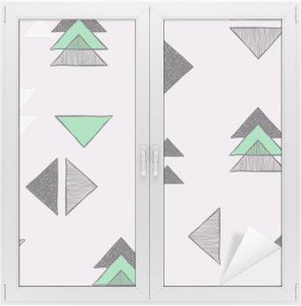 Window & Glass Sticker Seamless hand-drawn triangles pattern.