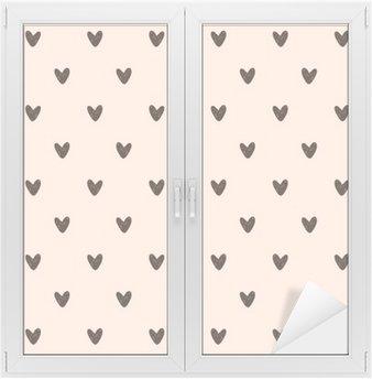 Window & Glass Sticker seamless heart pattern