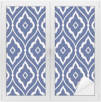 Seamless indigo blue and white vintage Persian ikat pattern
