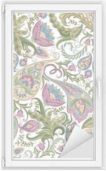 Window & Glass Sticker Seamless Paisley Pattern
