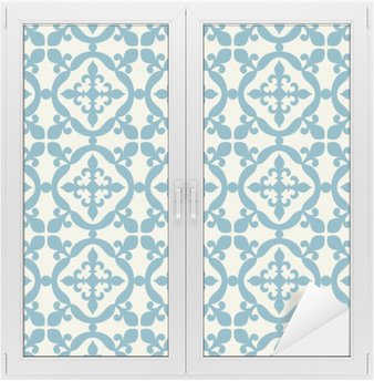 Window & Glass Sticker Seamless pattern. Portuguese, Moroccan, Spanish tile.