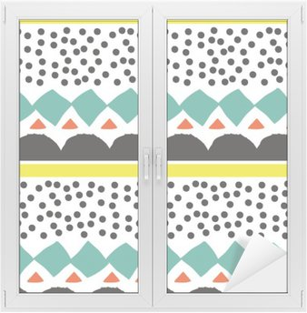 Window & Glass Sticker Seamless pattern with graphic geometric elements