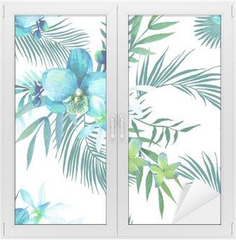 Window & Glass Sticker seamless pattern