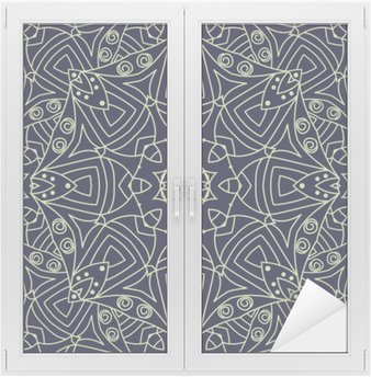 Seamless vector ethnic ornate background.