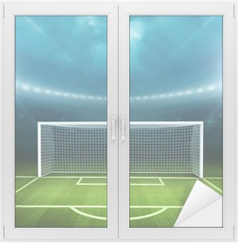 Window & Glass Sticker Stadium with soccer ball